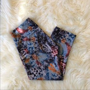 Onzie Psychedelic Feather Print Leggings